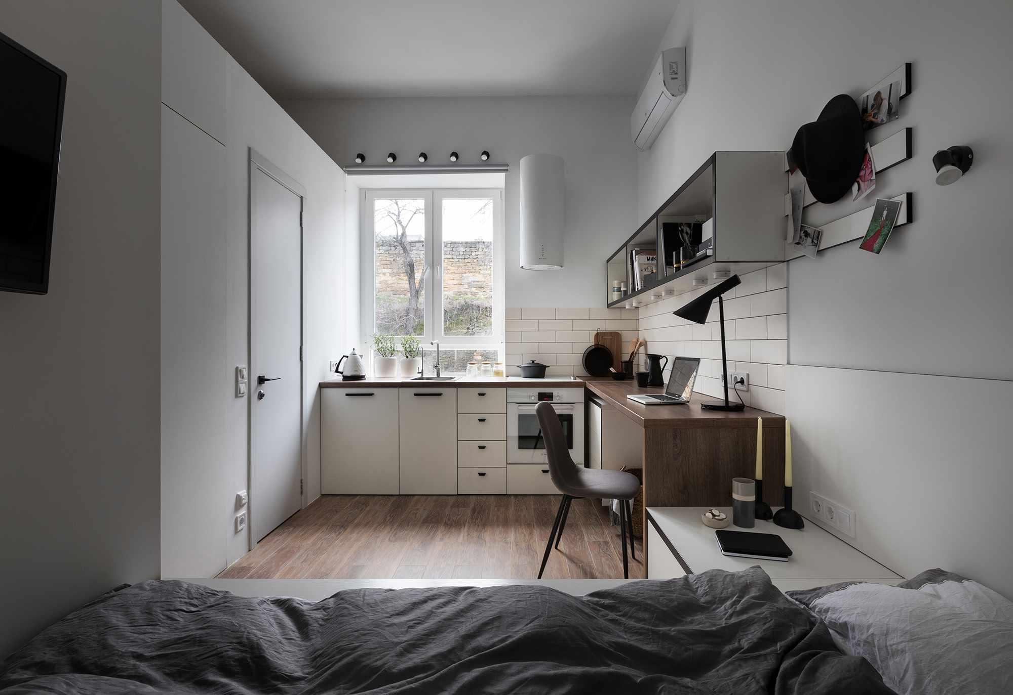 Odessa micro-apartment renovation Fateeva Design interior