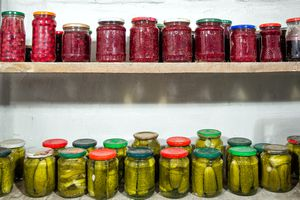 canned pantry goods