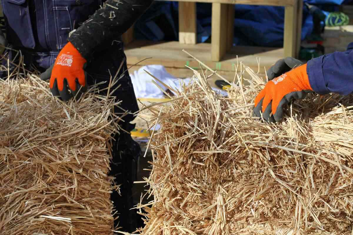installing straw bales
