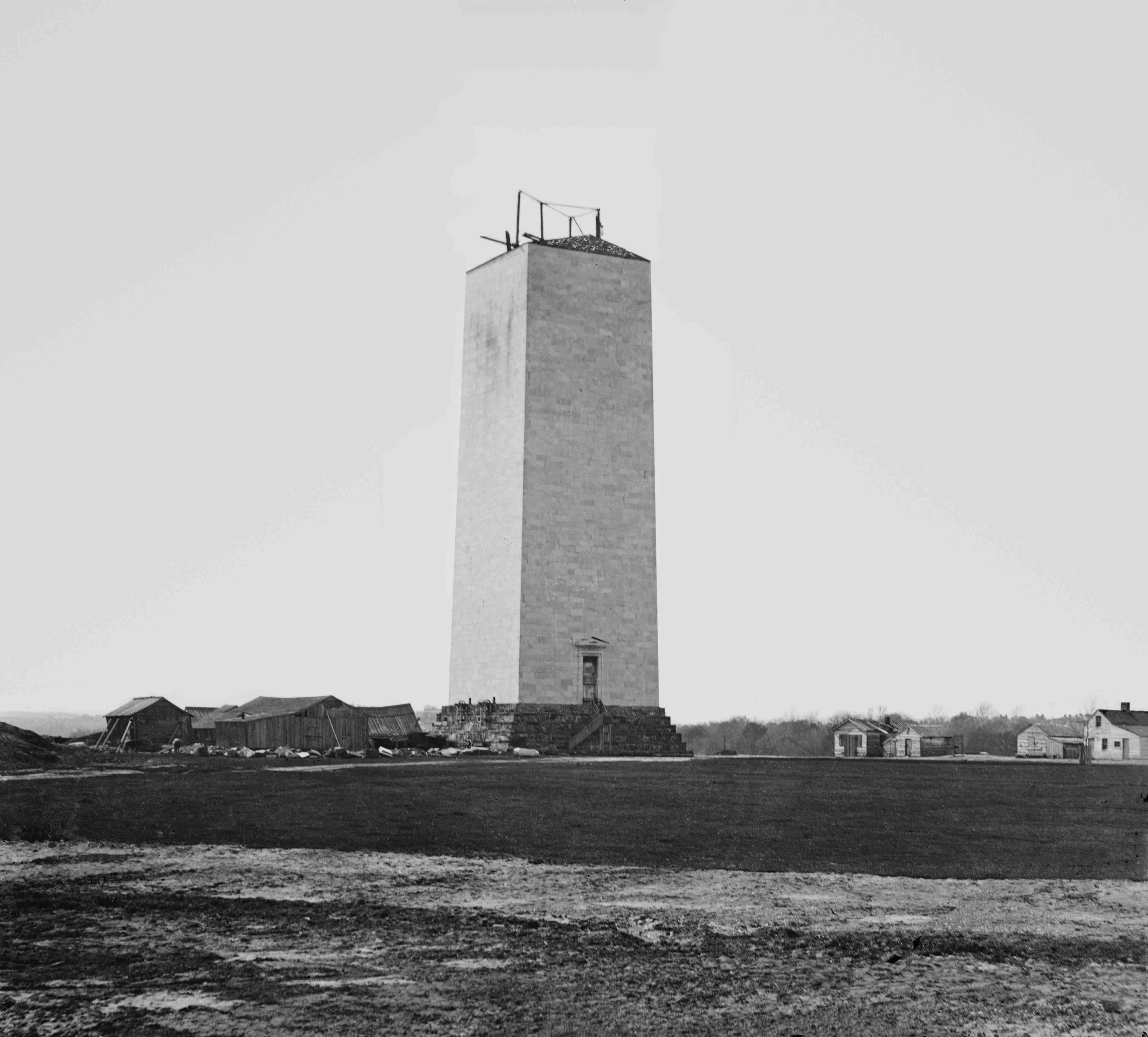 Stopped work on Washington Monument
