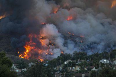 Climate Impact: Silverado Fire In Orange Country, California