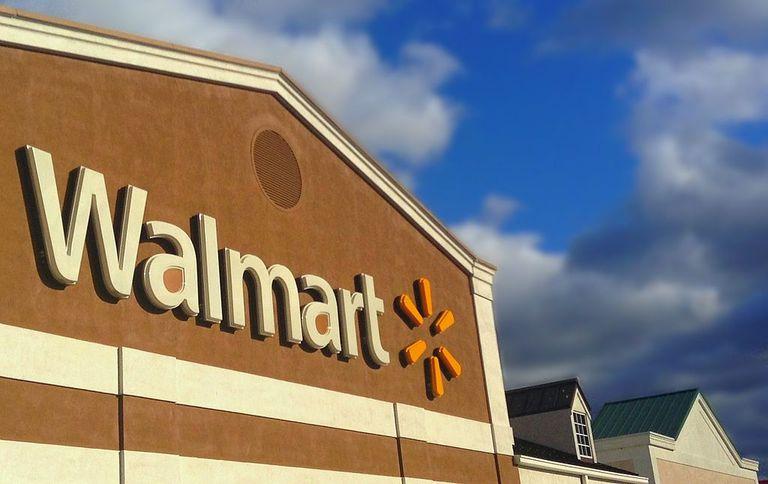 La venta dura de Walmart en verde