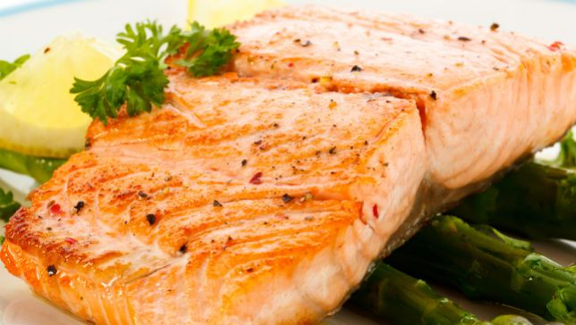 Foods high in vitamin D: Salmon