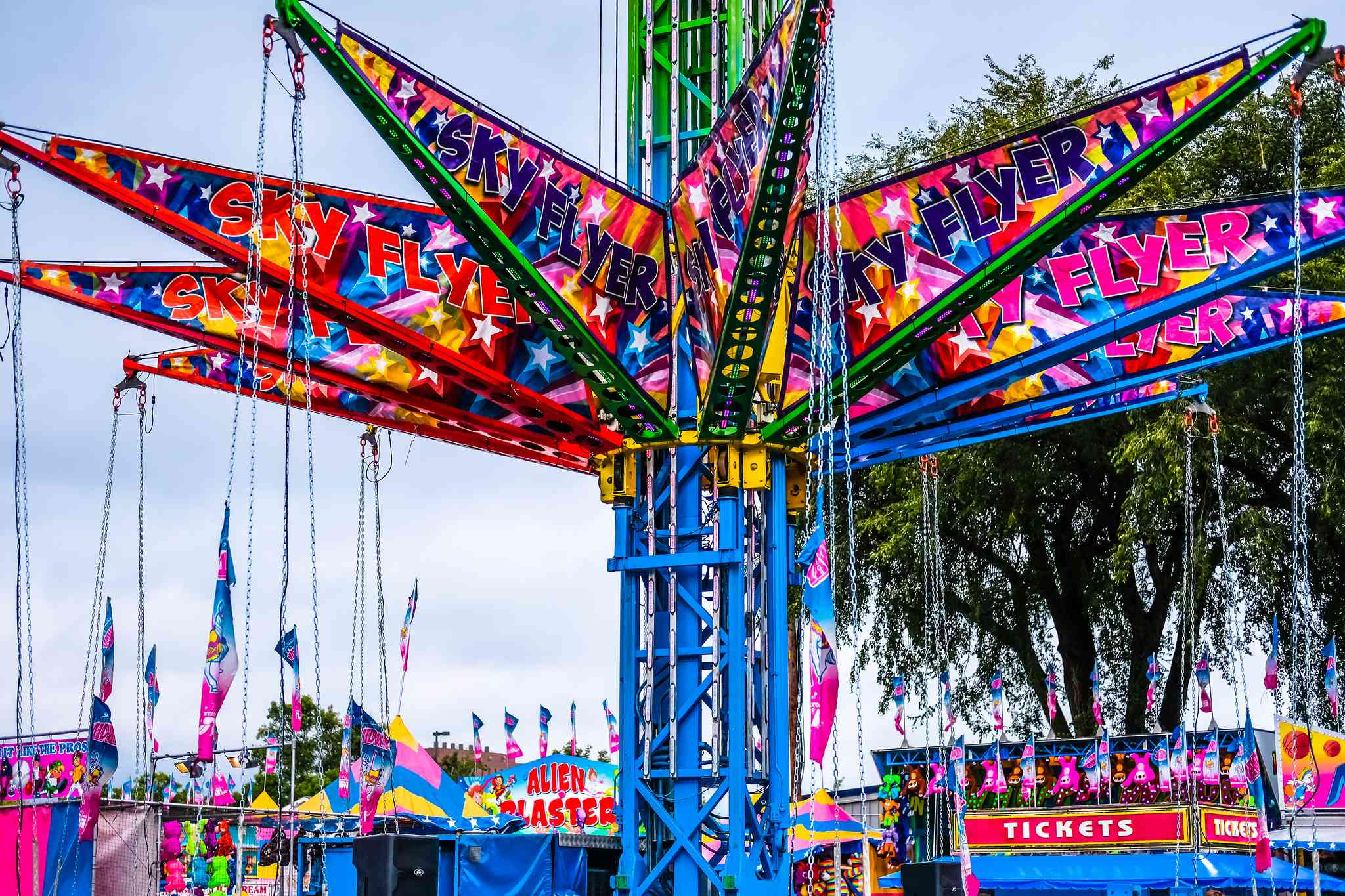 The Minnesota State Fair draws almost two million people annually.