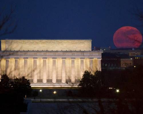 The super moon over Washington D.C.