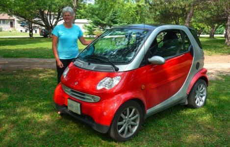 margaret casey with smart car photo