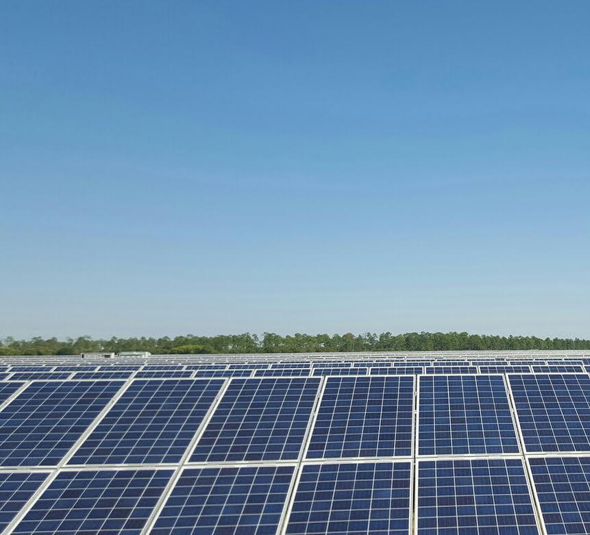 Solar panels at FPL's Babcock Ranch Solar Center, Punta Gorda, Florida.
