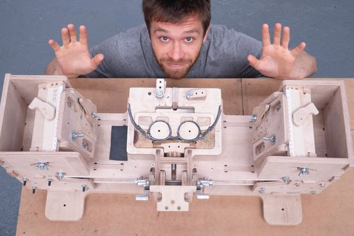 Jack Spencer's sunglass-making machine