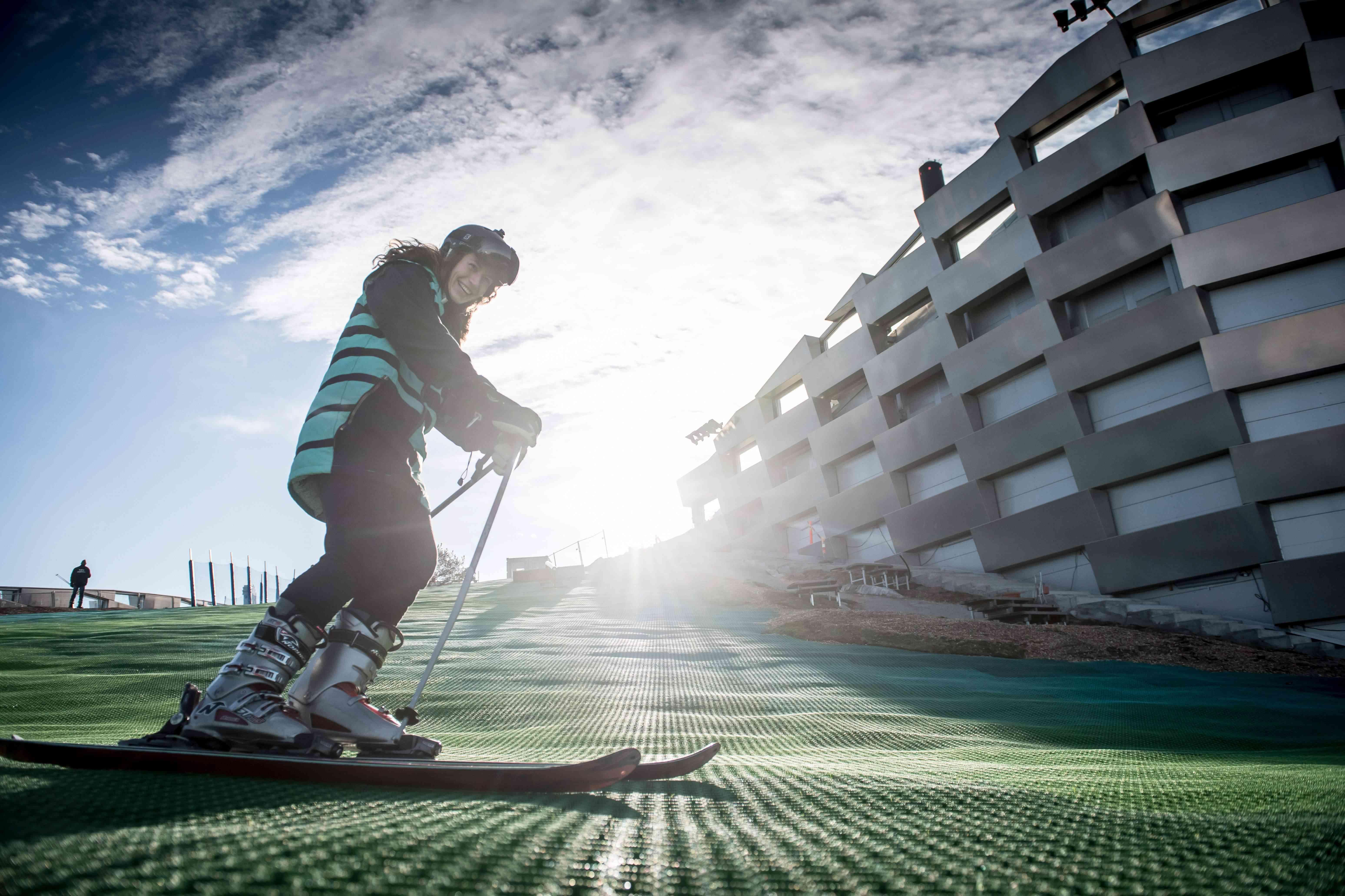 Happy skier at Copenhill, Denmark