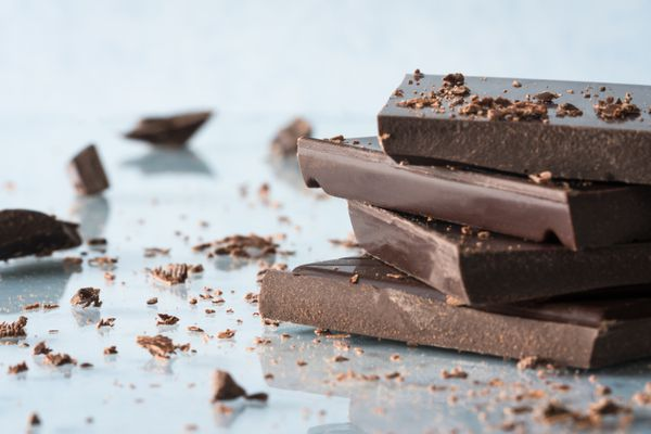 Close-Up Of Dark Chocolate On Table