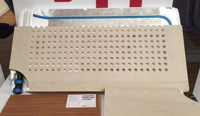 Panel filled with small holes