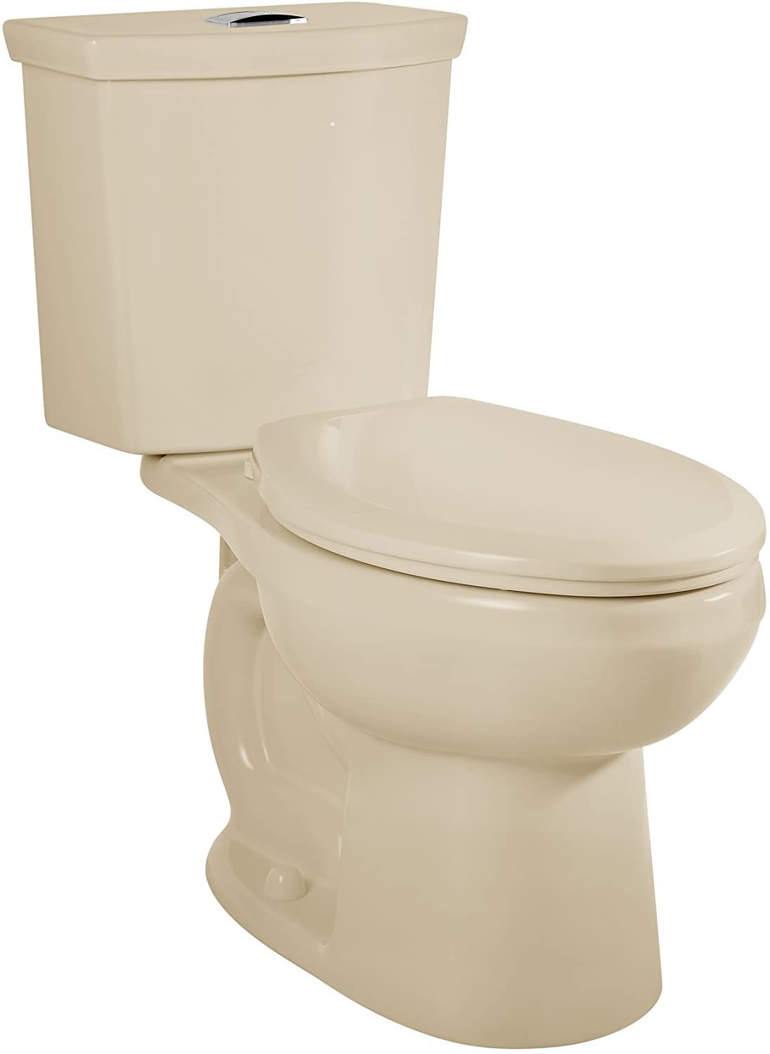 American Standard 2887518.021 H2Option Siphonic Dual Flush Normal Height Elongated Toilet with Liner, Bone, 2-Piece