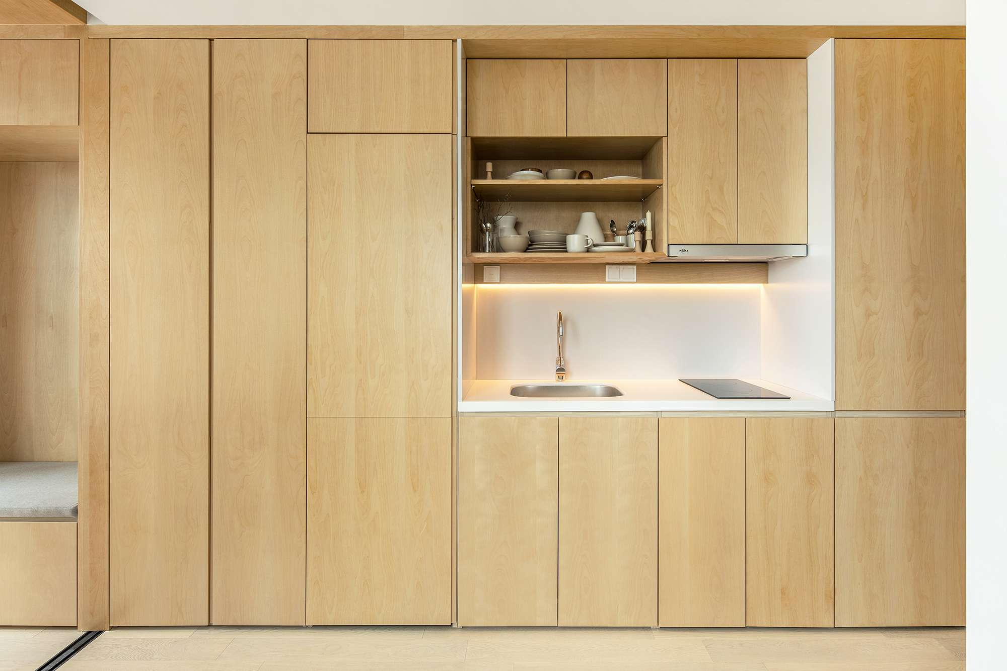 LIFE micro-apartments coliving Ian Lee kitchen