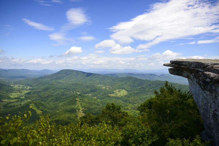 McAfee Knob on Appalachian Trail in Virginia
