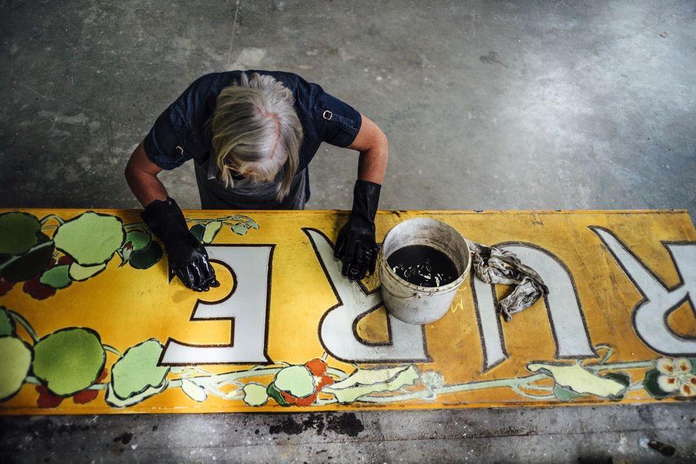 restoring a sign