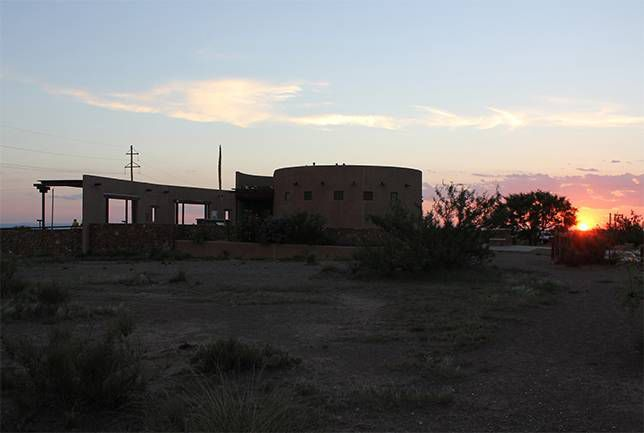 Marfa Lights viewing station off US Route 90 in Texas