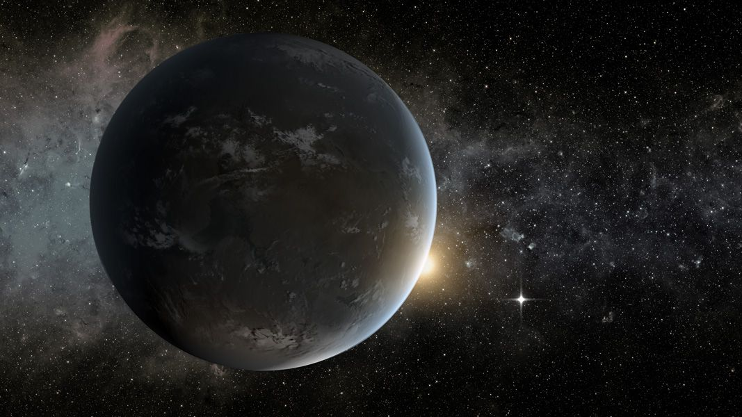 Kepler-62f exoplanet illustration