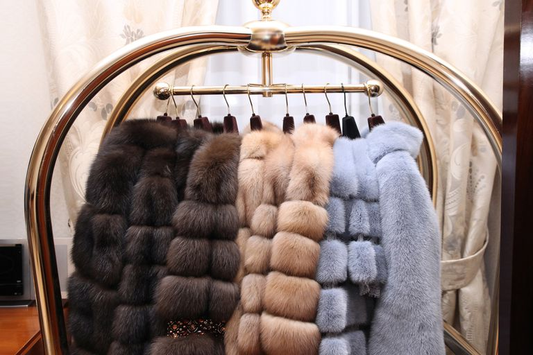 Chic expensive fur coats