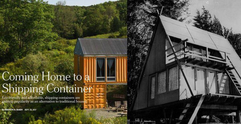 ¿Qué hace una casa mejor, un contenedor de envío o un marco en A?