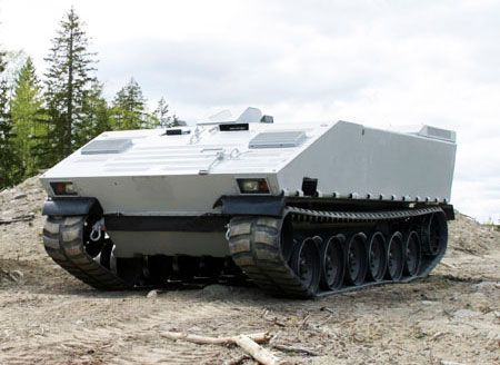 Military Tank with Rubber Tracks photo