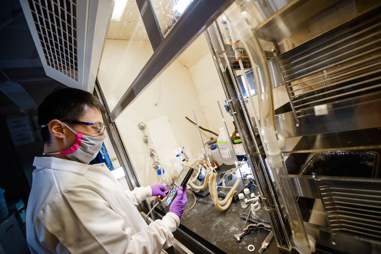 Ruochen Wu, a chemical engineering postdoctoral researcher working on the project
