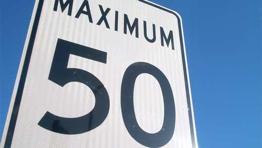 Maximum 50 road sign