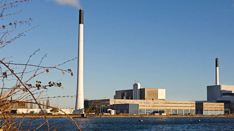 Energy plant on the coastline