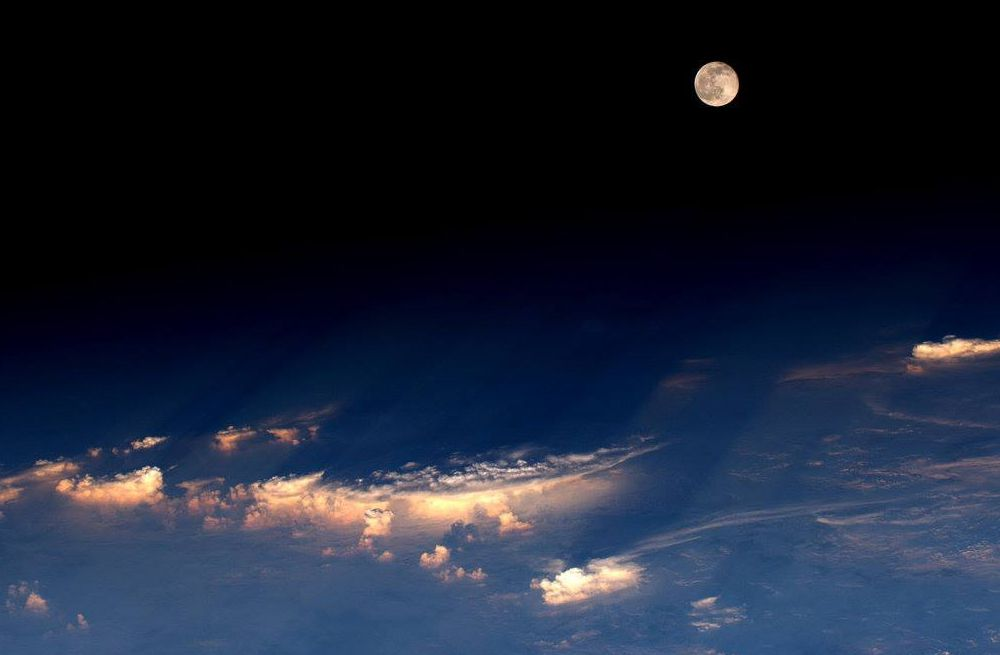 The full moon as captured from the International Space Station on June 21, 2016.