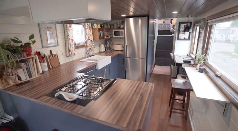 Serendipity tiny house kitchen