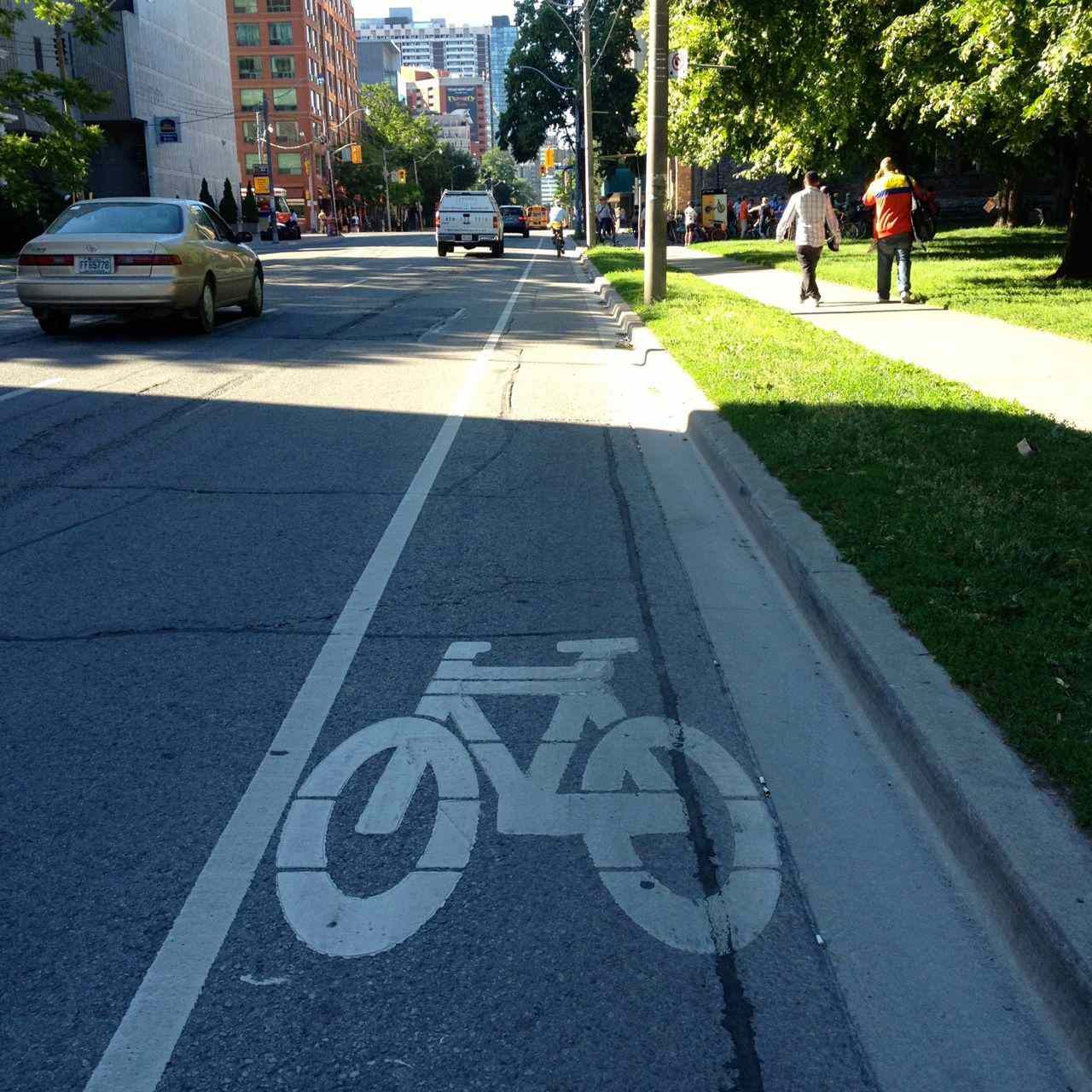 Jarvis bike lane, removed because there was no need and it slowed down cars by two minutes.