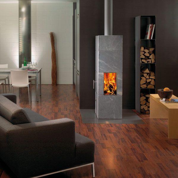 Attika Columa stove in a living room