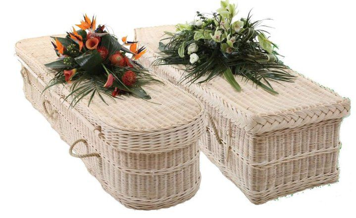 The Natural Burial Company sells biodegradable wicker caskets.