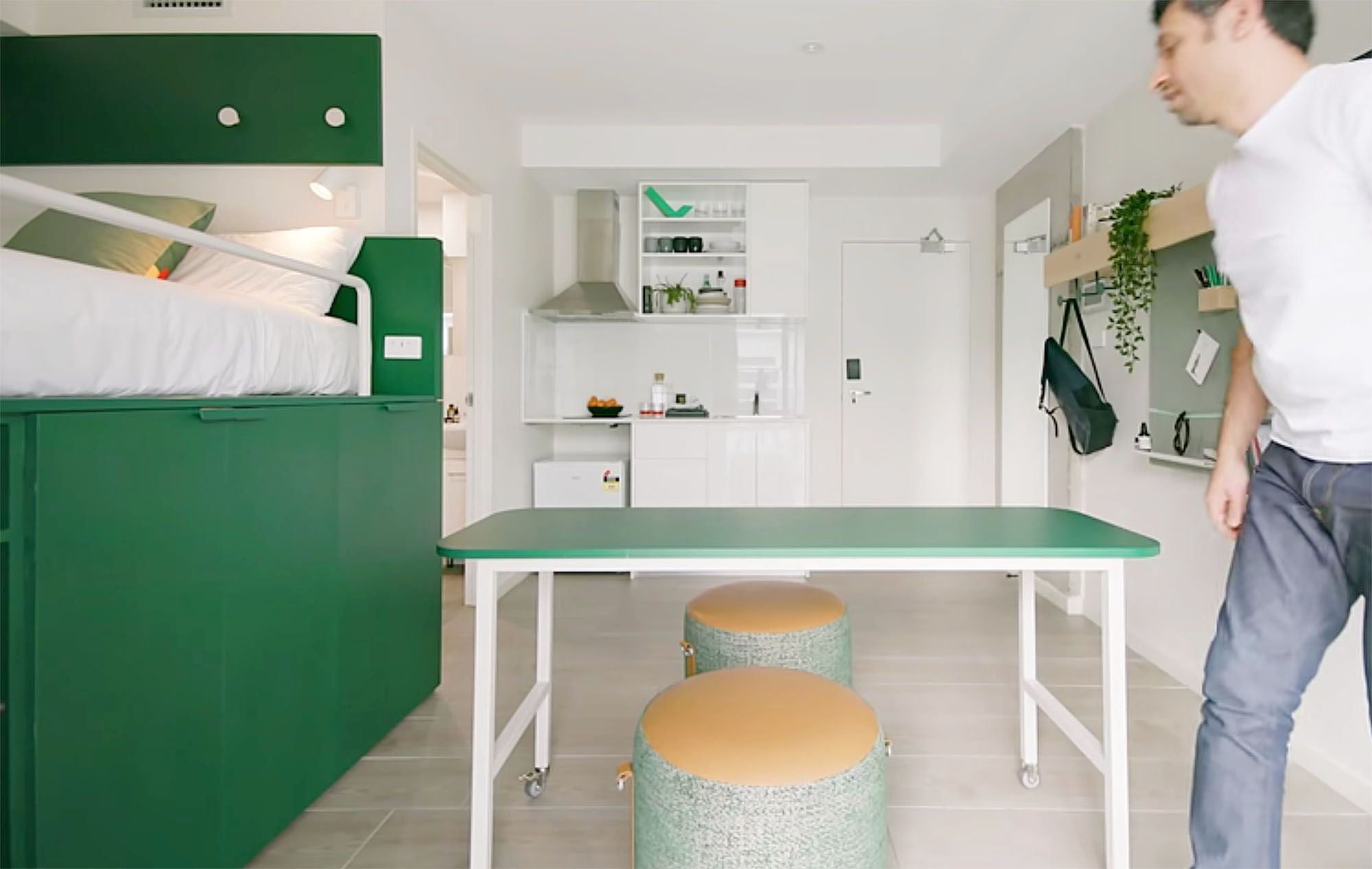UKO stanmore coliving micro-apartment Mostaghim Associates dining table