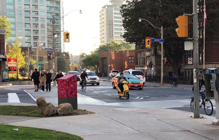 scooter in bike lane
