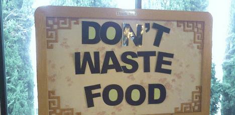 waste food is waste water photo