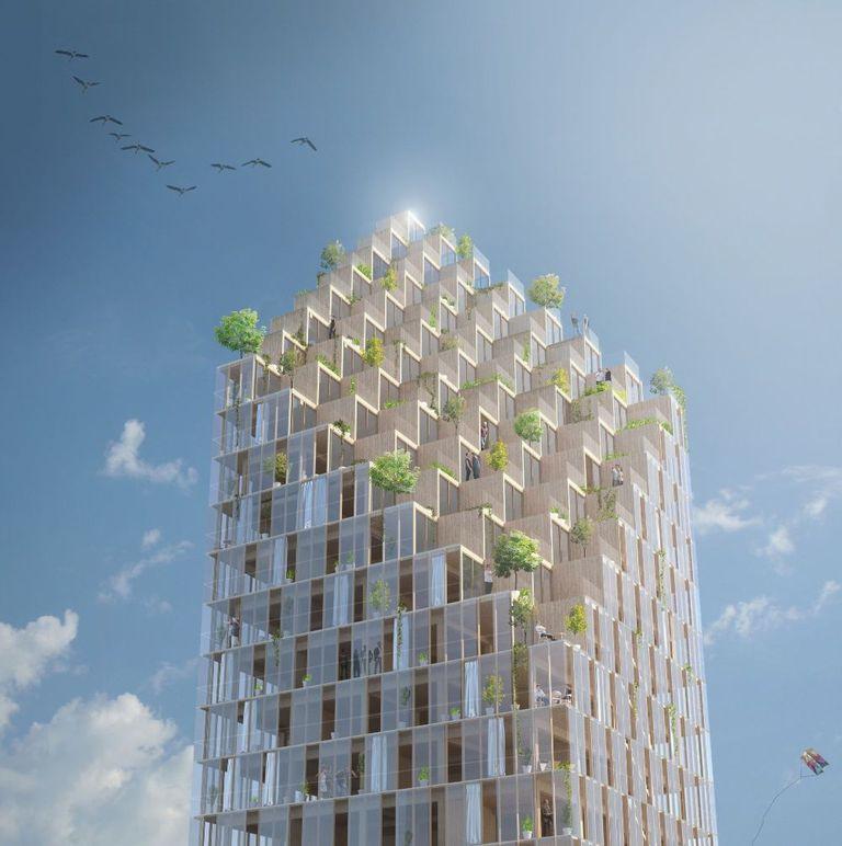 Tall Wood: rascacielos de 34 pisos propuesto para Estocolmo