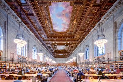 View of Rose reading room at New York Public Library