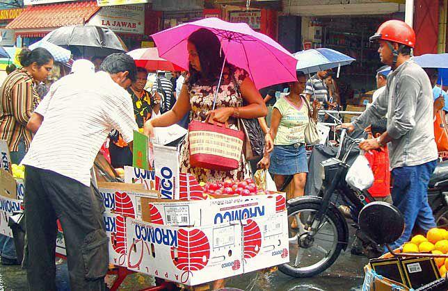 Mauritius street scene