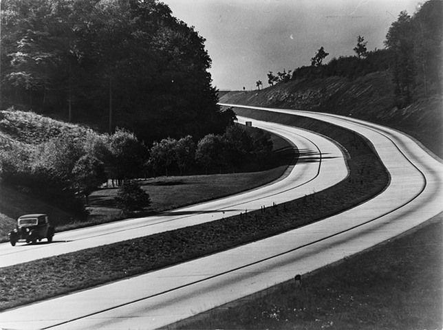 The Autobahn in 1937, when it was brand new.