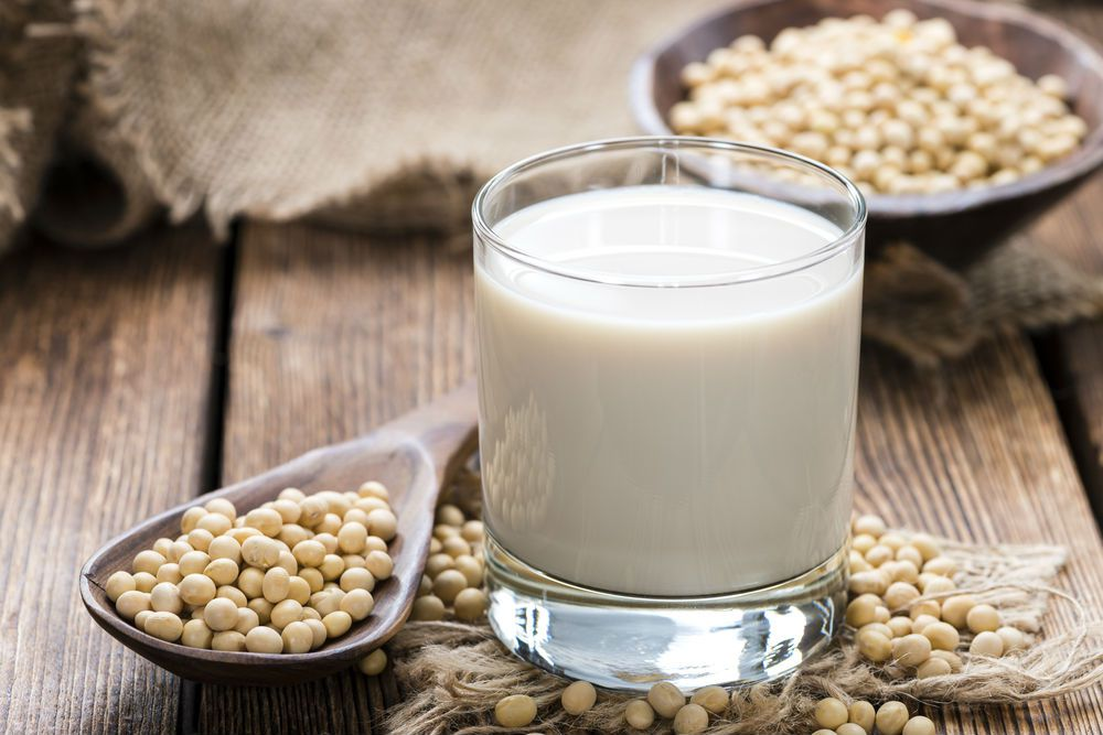 glass of soy milk is high in vitamin d