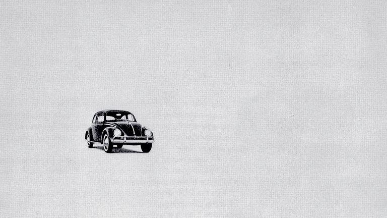 An advertisement for the Volkswagen Beetle