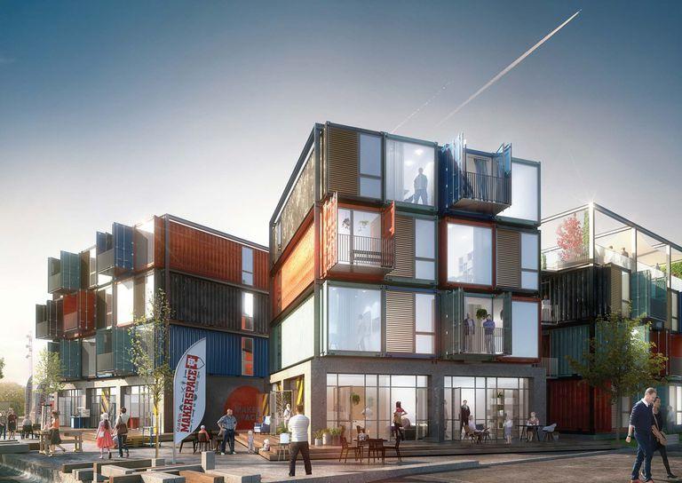 Rock in a Box con el proyecto de viviendas de contenedores de envío de Arkitema Architects