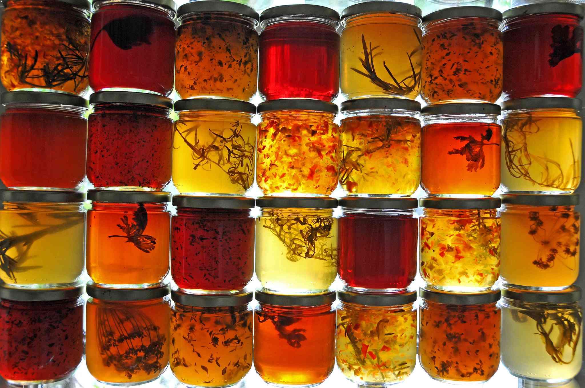 stacks on stacks of jelly jars
