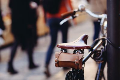 Bike with saddle bag