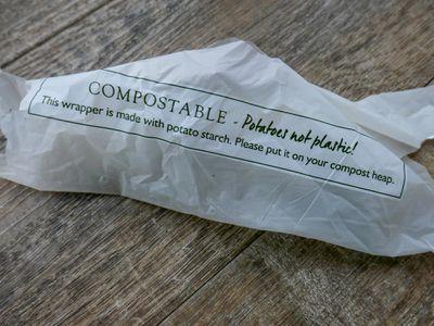 Potato starch compostable wrapper