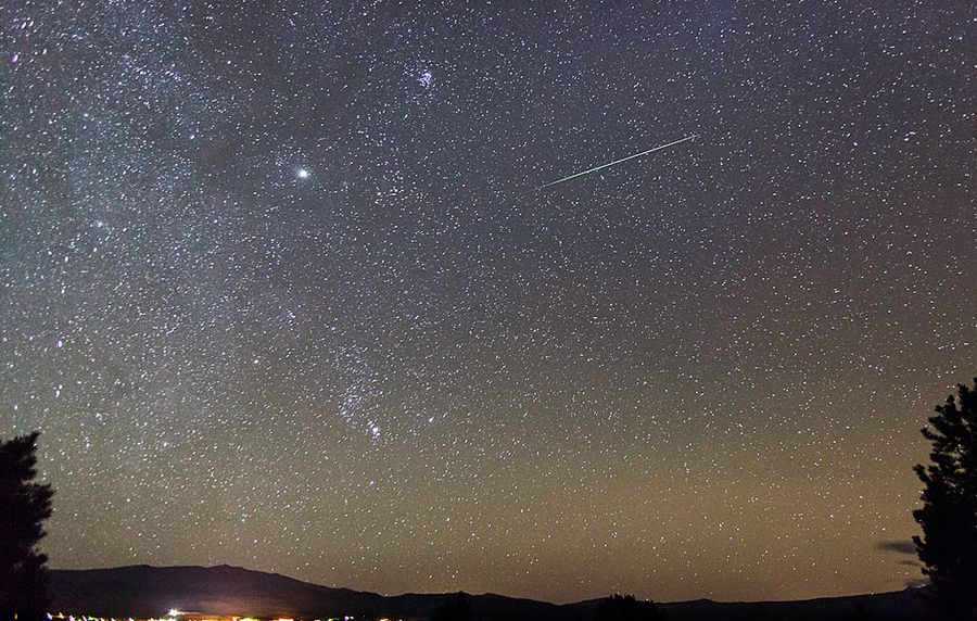 The Orionids meteor shower will peak on the evening of October 22nd.