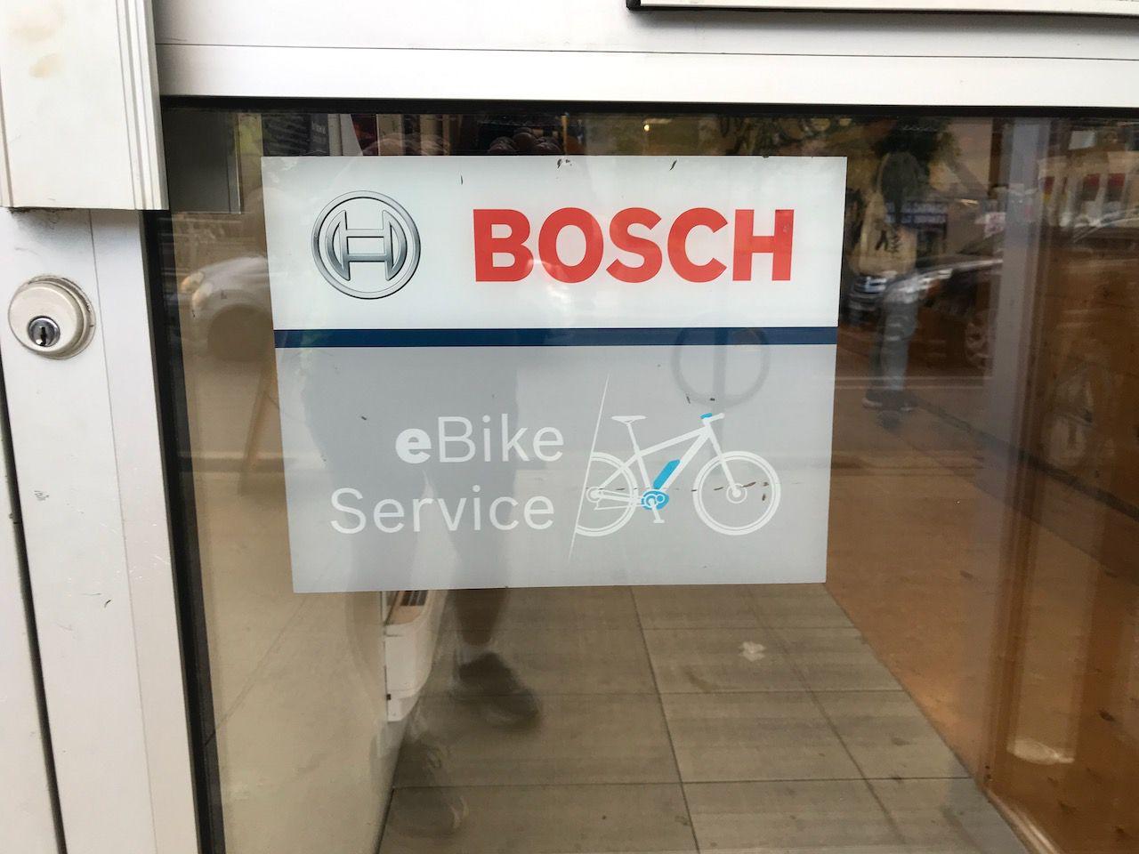 Sticker on door of local bike shop