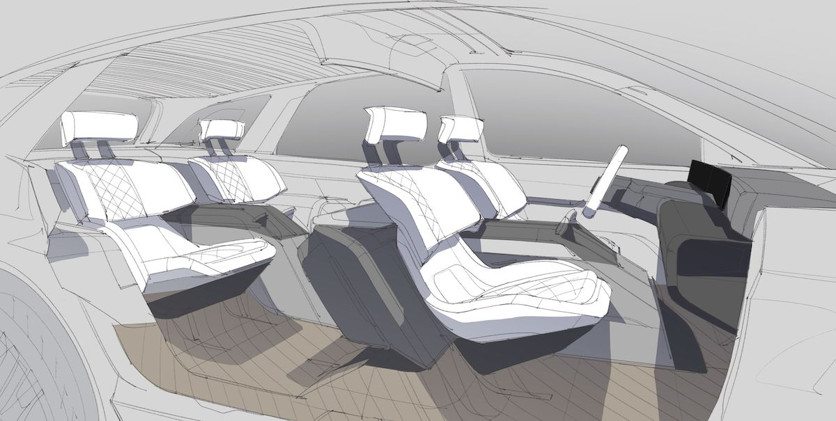 Lincoln Sketch Interior Space