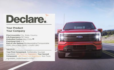 Declare label with pickup truck