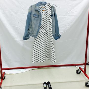 dress & denim outfit